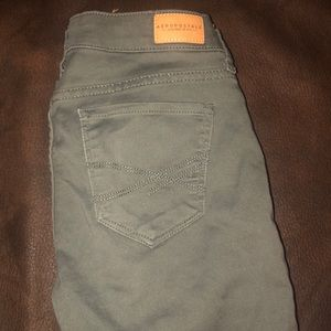Olive green jeggings from Aeropostale